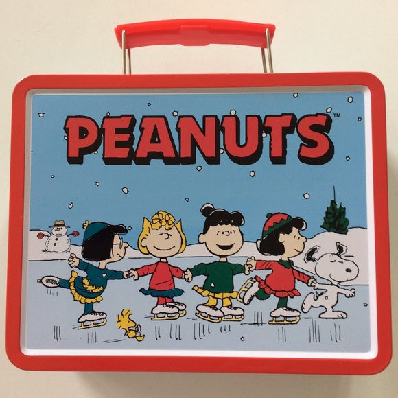 Peanuts Other - 🎊HP 🎉PEANUTS 1999 ICE SKATING METAL LUNCH BOX